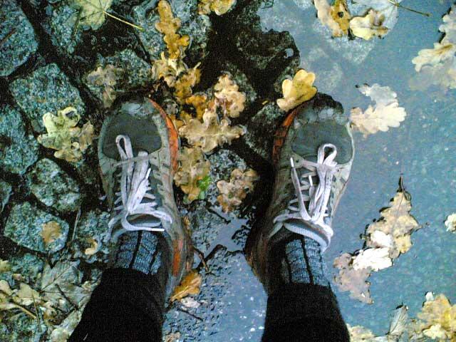 Matschige Schuhe
