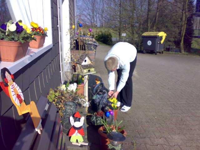 Anja und Blumen