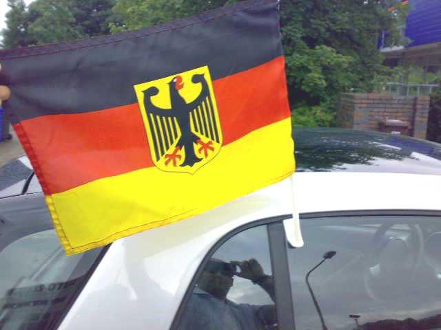 Fahne am Smart