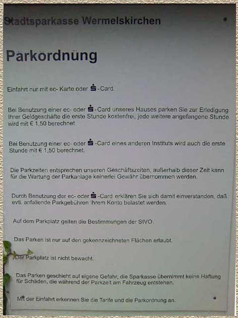 Parkschild