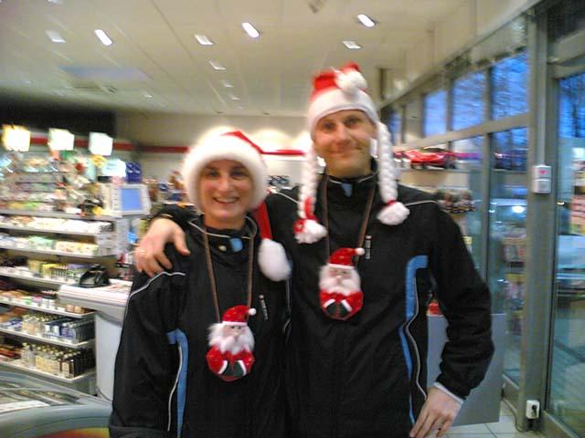 Weihnachts-Anja und Lutz
