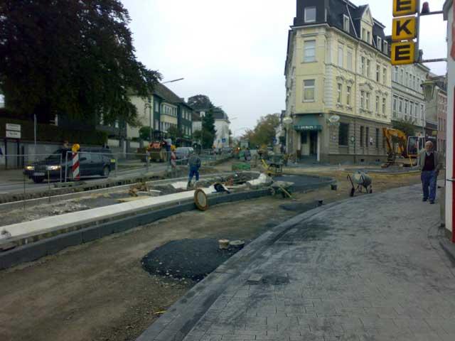 Baustelle Obere Remscheider Str. zur Thomas Mann Str.