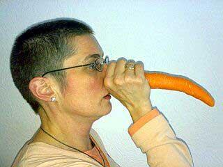 Anja mit langer Nase