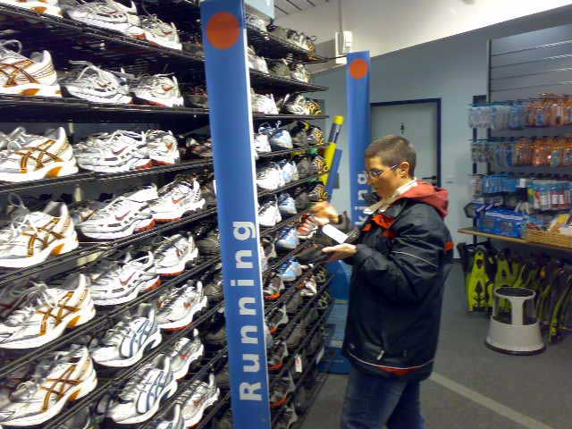 Anja im Intersport