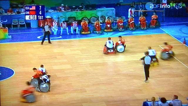 Rollstuhl Rugby