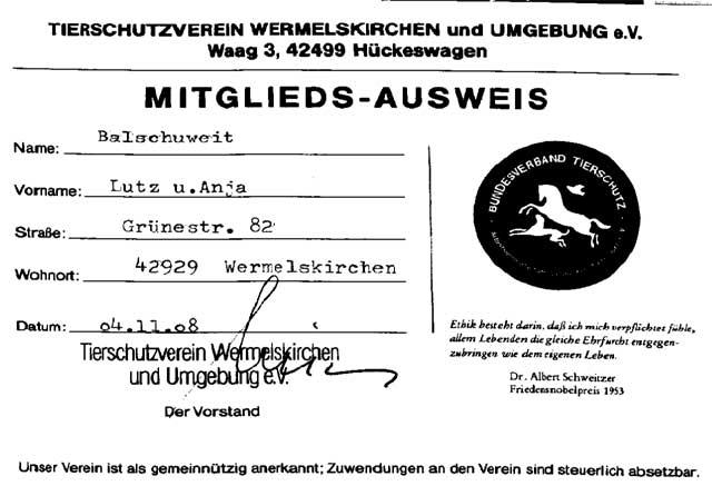 Mitglieds-Ausweis