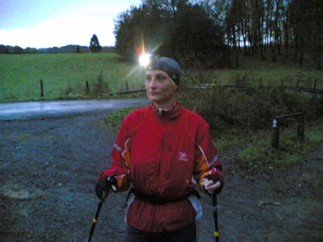 Anja mit Lampe