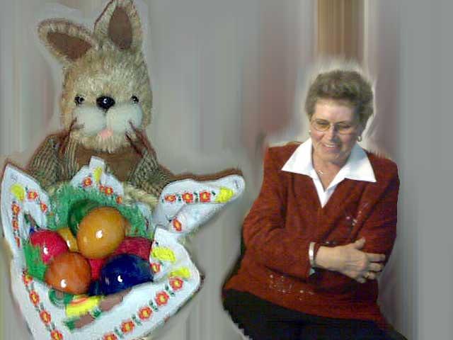 Mutter mit Hase