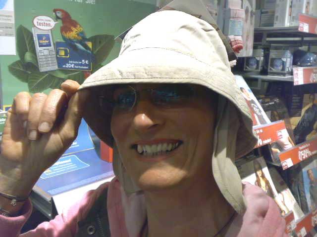 Anja und Hut