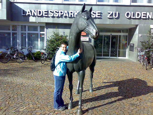 Anja mit Pferd