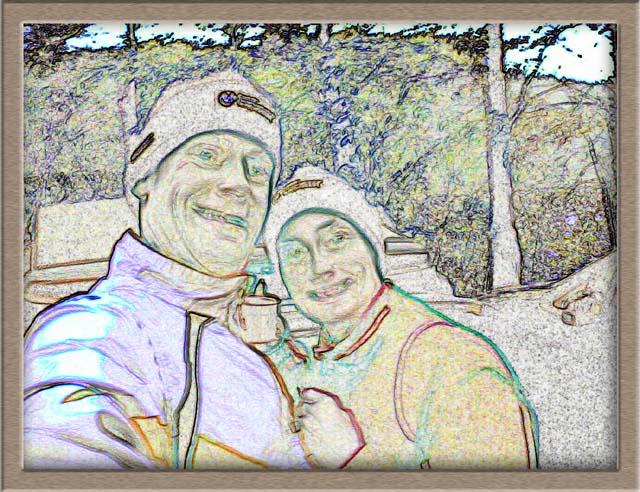 Lutz und Anja Bleistiftzeichnung