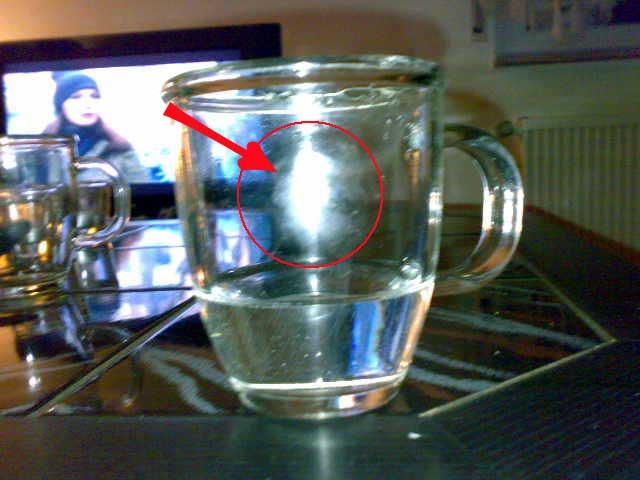 Glas mit Fingerabdruck