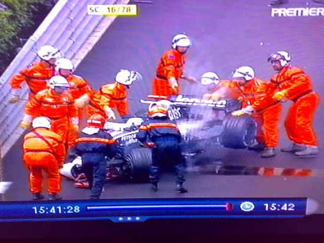 Rosberg Crash