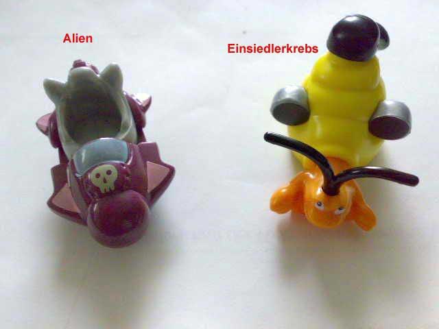 Alien und Einsiedlerkrebs
