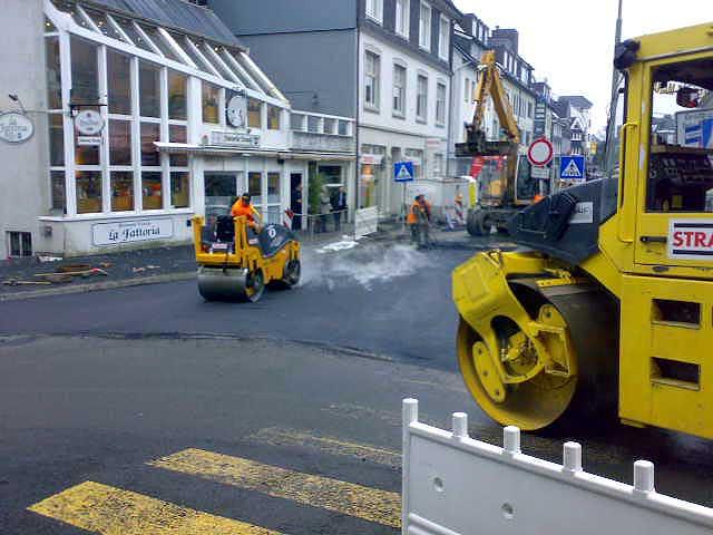 Straßenarbeiten in Wermelskirchen