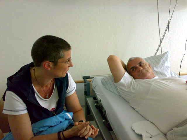 Vater im Krankenhaus