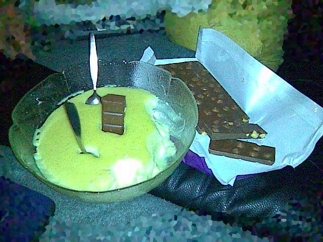 Pudding und Schokolade