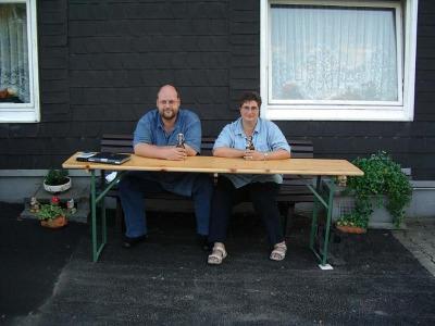 Anja und Lutz auf der Bank