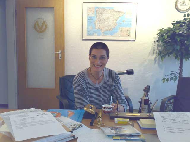 Anja bei der Arbeit