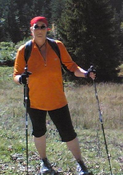 Anja in den Bergen